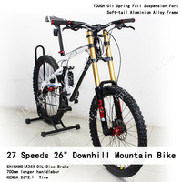 Excelli 27 Speeds 26*17.5 Downhill Soft tail Bike Full Suspension Oil Disc Brake Bicicletas 2.3cm Tire DH Mountain Bike 26