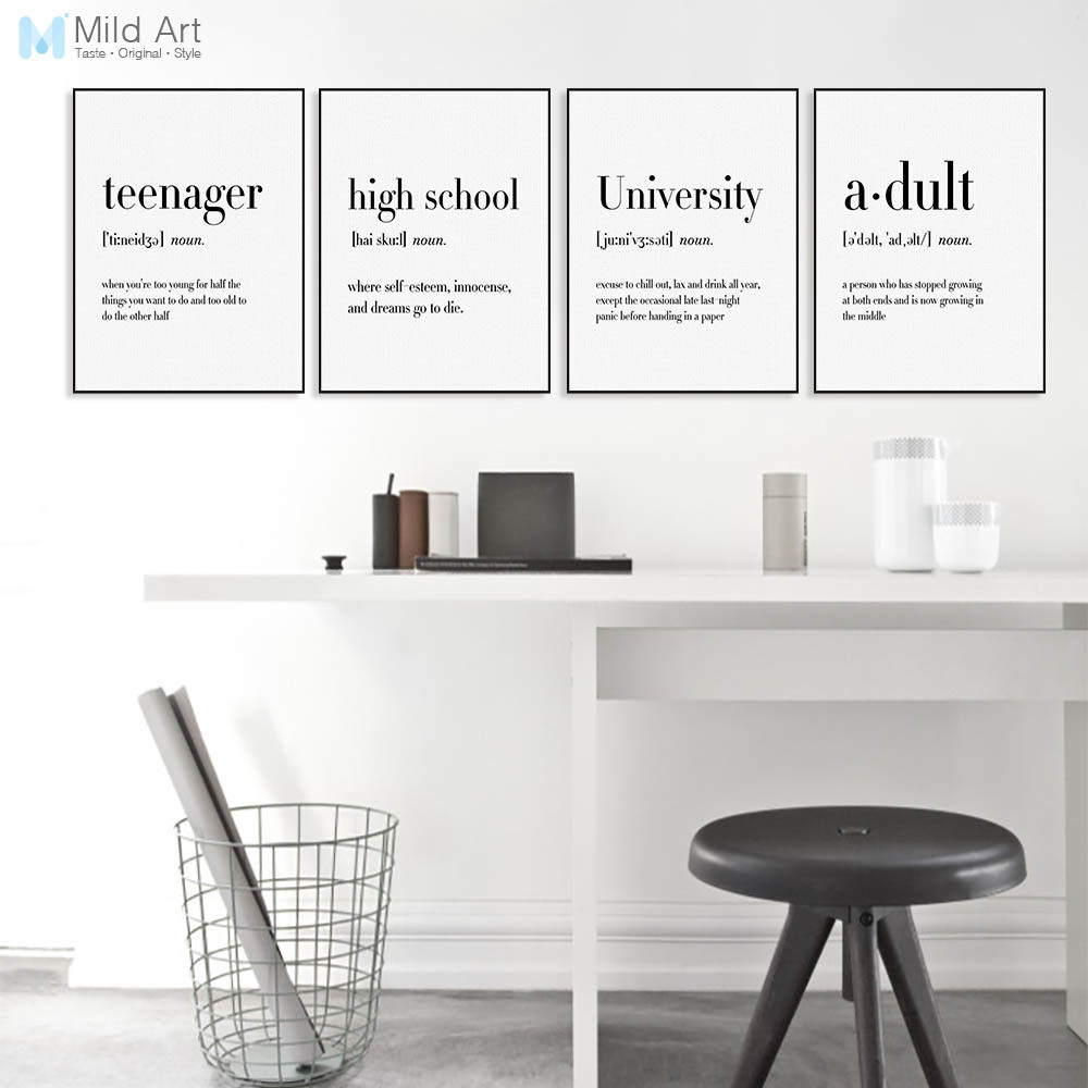 Modern Typography Office Life Quotes A4 Art Print Poster Nordic Living Room Wall Art Picture Home Decor Canvas Painting No Frame image