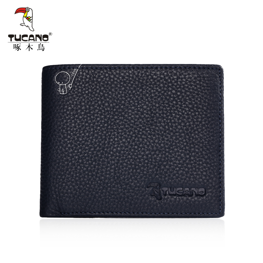 TUCANO luxury genuine leather men wallet brand business male slim bifold pocket purse credit card holder wallet