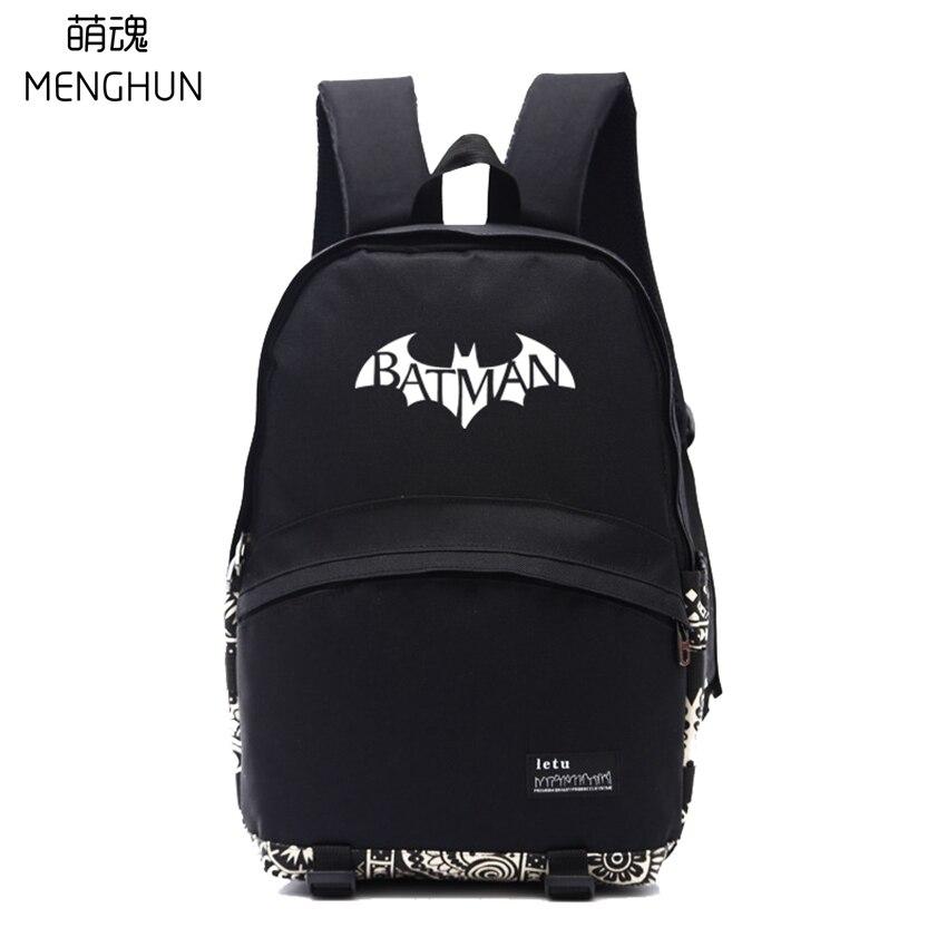 Новый нейлоновый рюкзак любителей кино рюкзак Batman movie логотип печати рюкзаки NB273 ...