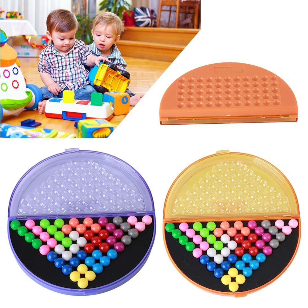 Hot Sale Children IQ Pyramid Beads Puzzle Brain Teaser Educational Game Toys