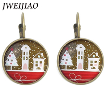 JWEIJIAO Vintage Elegant Fabletown Christmas Snow Clip Earrings For Fashion Women Wedding Ear Jewelry Xmas New Year Gift CM08