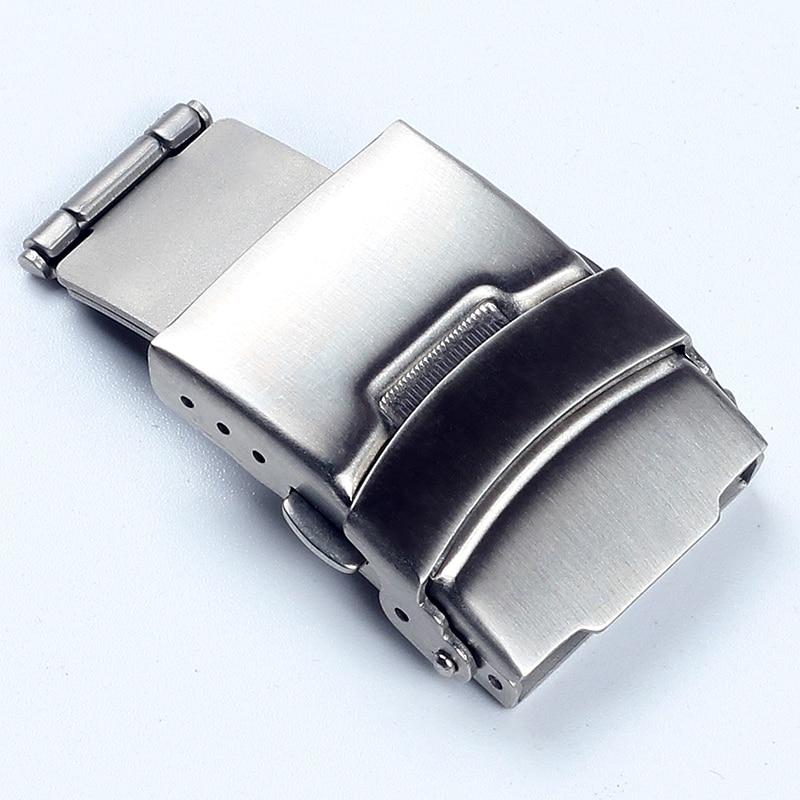 Ремешки для наручных часов, 16 мм, 18 мм, 20 мм, 24 мм, из нержавеющей стали, с застежкой, серебряные часы с пряжкой|Ремешки для часов|   | АлиЭкспресс