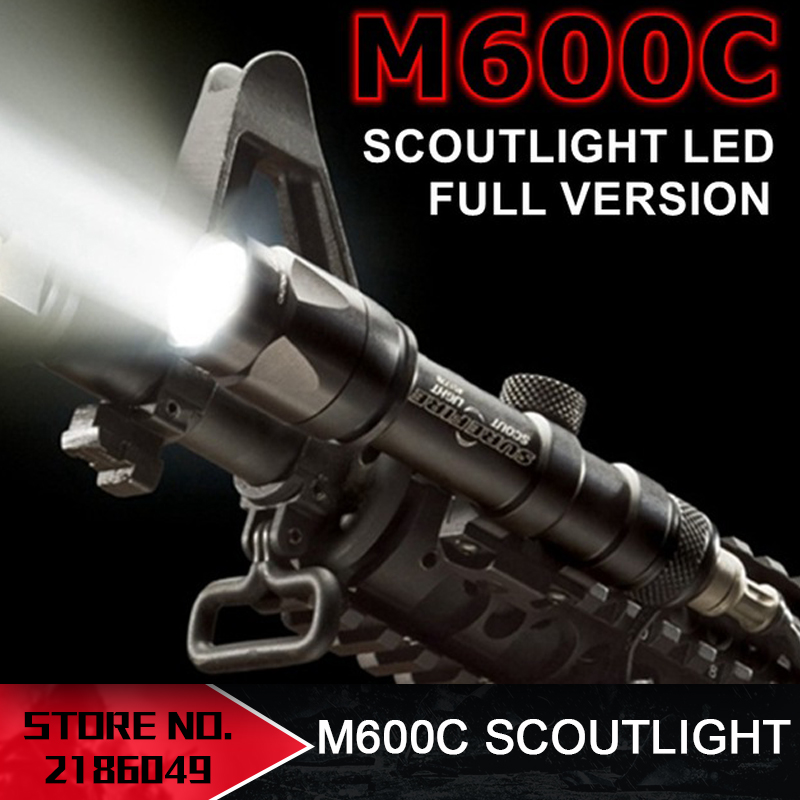 Element Airsoft SF M600C Weapon Tactical Scout light LED Tactical Rifle Flashlight M600 Series EX072 wipson sf m600b mini scout light for tactical gun flashlight led weapon light pistol flashlight with remote tail switch