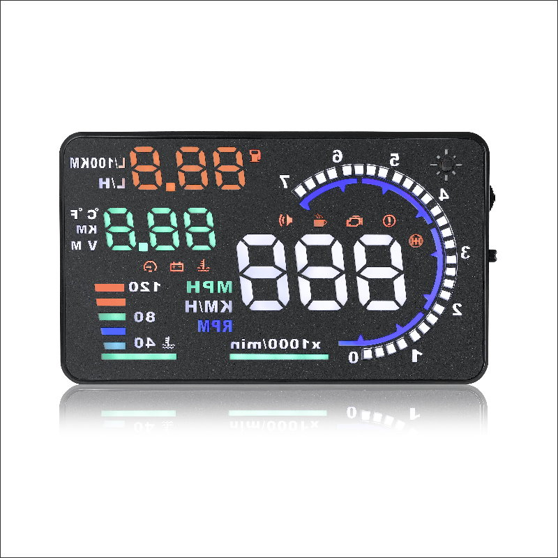For Audi A3 2014 2015 2016 Car HUD Head Up Display Safe Driving Screen Projector Refkecting Windshield in Head up Display from Automobiles Motorcycles