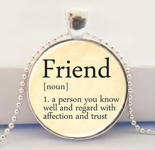 Best Friend Pendant, Dictionary Definition Pendant, Friendship ...