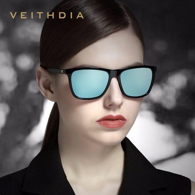 VEITHDIA Brand Unisex Retro Aluminum+TR90 Sunglasses Polarized Lens Vintage Eyewear Accessories Sun Glasses For Men/Women 6108 10