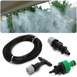 10m Water Misting Cooling Irrigation System Sprinkler Water irrigation +10pc Nozzle Sprinkler Garden Tools Mayitr