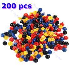 U119 200 PCS Colorful Rubber Grommets Nipples For Tattoo Machine Needles Supplies
