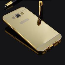 Оптовая Люкс Алюминий Ультра-тонкий Зеркало Металла Case Обложка Кожи Для Samsung Galaxy A8 бесплатная доставка Снег