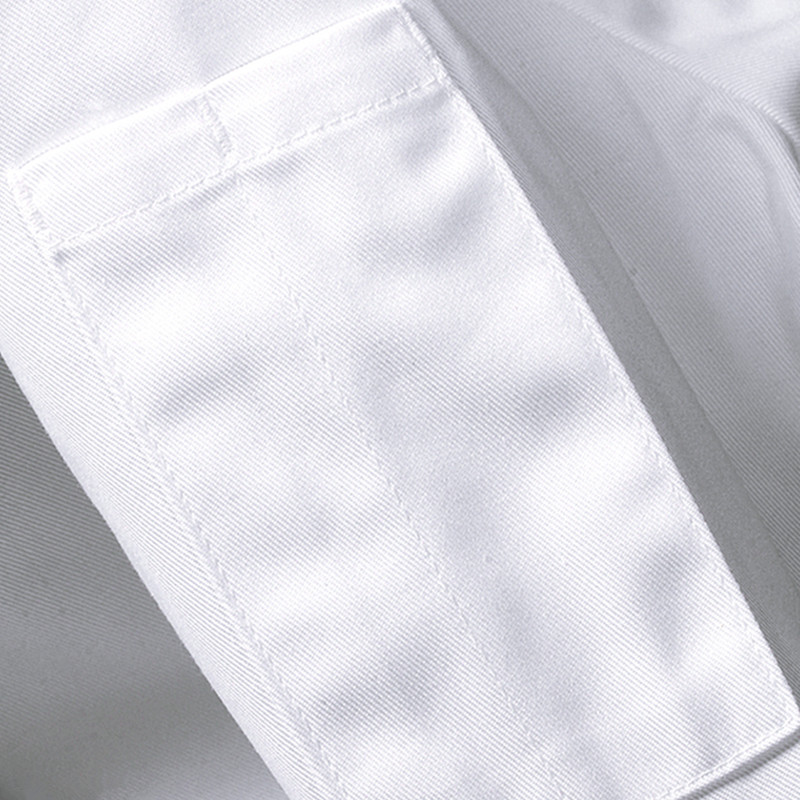 Black White Long Sleeve Chef Shirt D74-9