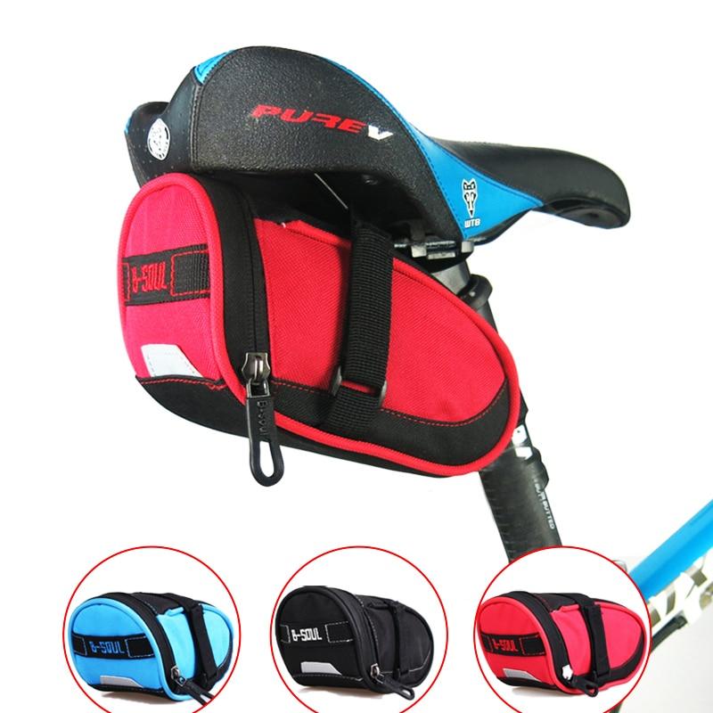 B-SOUL vízálló kerékpár nyeregtáska Mountain Road kerékpár farokzsák kerékpáros ülés táska kerékpár tartozékokhoz fekete kék piros