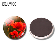 Exceptionnel Charming Poppies 30MM Fridge Magnet Red Poppy Glass Dome Magnetic  Refrigerator Sticker Kitchen Home Decor Flower