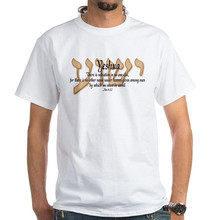 Create Shirts Yeshua Acts 4:12 White Short Sleeve Printed O-Neck Tee For Men