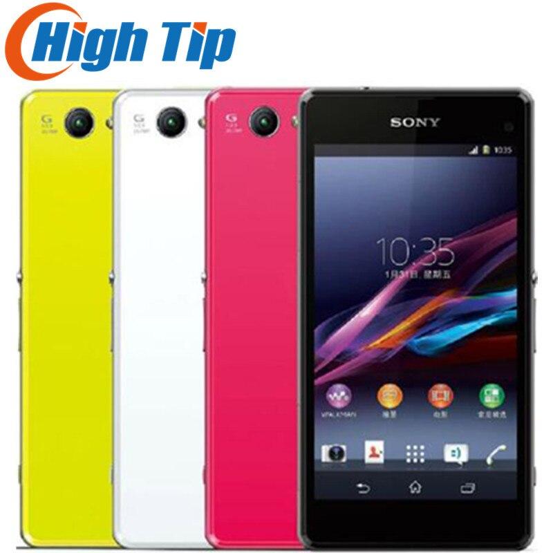 Débloqué Original Sony Xperia Z1 Compact D5503 Android 2 gb RAM 4.3 20.7MP 3g/4g Quad -Core WIFI GPS 16 gb De Stockage Mobile téléphone