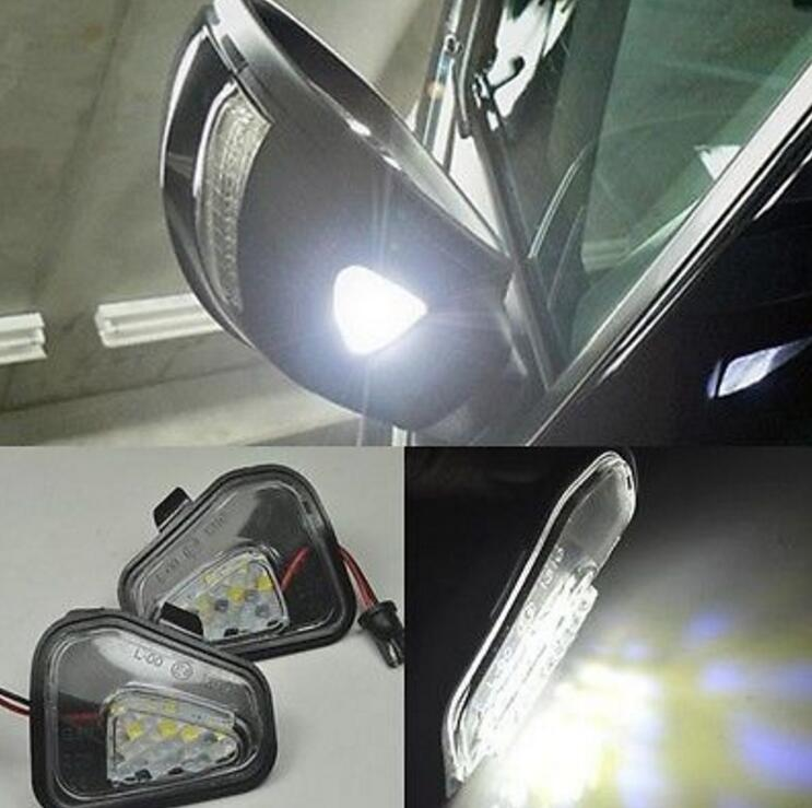 2x Error Free Led Side Under Mirror Puddle Light Lamp For
