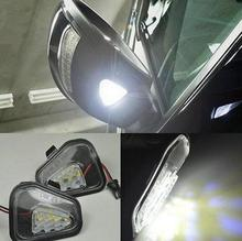 2x Error Free LED Side Under Mirror Puddle Light Lamp For Vw Volkswagen CC 12-14 EOS Passat Scirocco 2009-/4motion/Santana 2011-