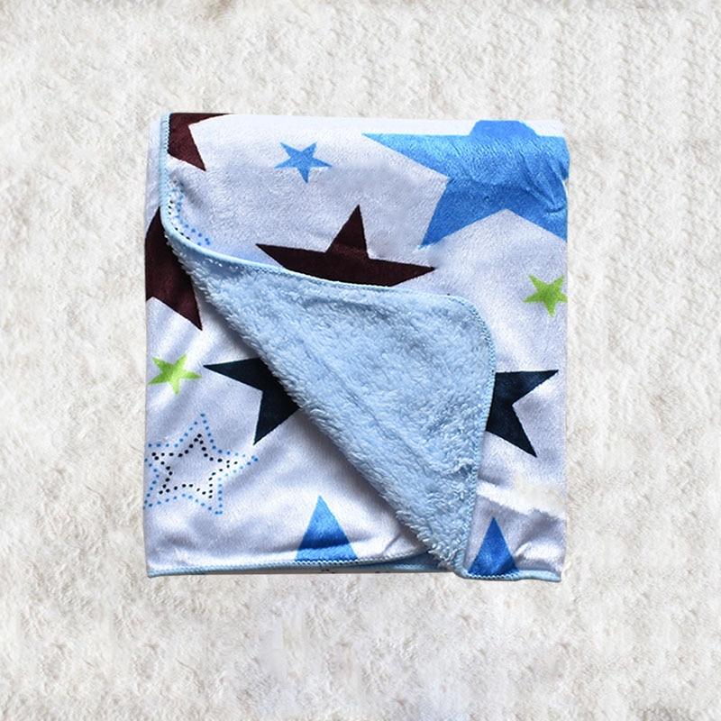 Warm baby blanket cartoon star travel quilt for children to sleep on the mattress sofa on the crib.