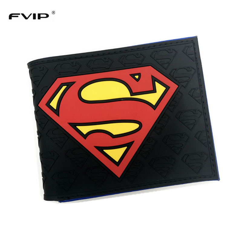 Anime Wallets  New Designer Superman Batman Star Wars Wallet Young Boy Girls  Purse Small Money Bag