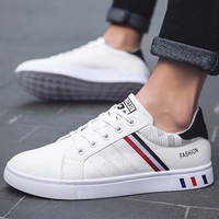 Sport Shoes Men White Sneakers Comfort Sneakers For Men Leather Sneakers Boys School Shoes 2020 Spring Vulcanized Shoes Man|Men's Vulcanize Shoes| |  -
