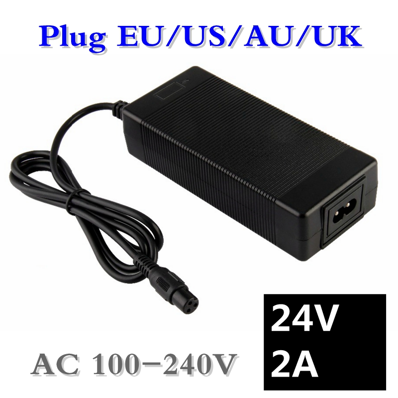 Chargers 63w 24v 2a Mobility Male Electric Bike Battery Charger For Ezip Mountain Trailz Schwinn 4.0 S400 S500 Jazzy Power Chair Eu Au Uk Meticulous Dyeing Processes