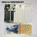 Novo quadro de substituição de habitação Chassis Bezel Case + tela de vidro + ferramentas Repair assembléia para Samsung S4 i9500 / i9505 frete grátis