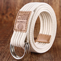 2016 common men and women of color canvas outdoor leisure business section jeans double knit belt buckle belt