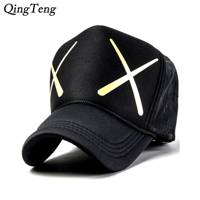 c9e561ab5 US $6.0 40% OFF|Trucker Hats Cool Spring And Summer Men And Women XX  Pattern Breathable Mesh Cap Truck Cap Cartoon Casual Snapback Caps 5  Panels-in ...