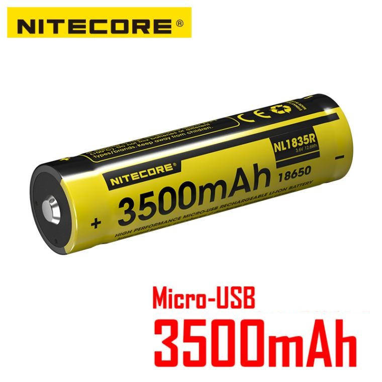 1 pcs NITECORE NL1835R USB Rechargeable Batteries 3500mah 3.6V 5A Li-ion battery NL189 NL1834 NL1835 update version