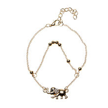 Sexy Beach Rhinestone Elephant From India Barefoot Chain Ankle Bracelet Foot Jewelry Anklets For Women Accessories Gift(China)