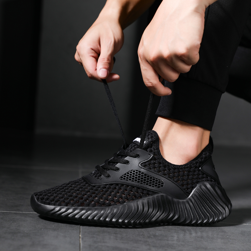 Shallow mouth men 39 s mesh fabric flat shoes casual shoes in Men 39 s Casual Shoes from Shoes