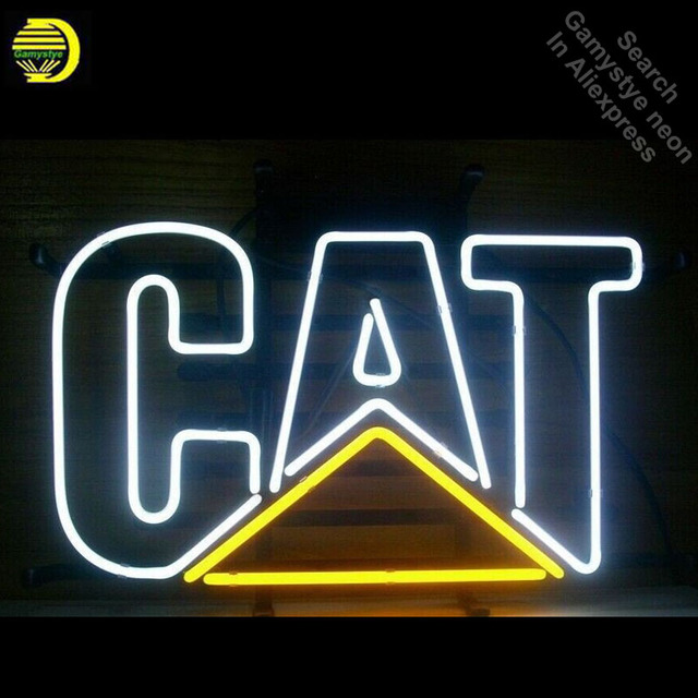 Neon Signs for Caterpillar Cat Handcrafted Neon Bulbs sign Glass Tube Decorate Wholesale Beer Sign Advertise Fast dropshipping