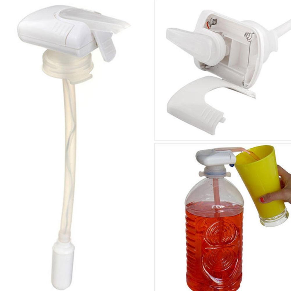 New Creative Beverage Drink Dispenser Magic Tap Electric Automatic Drinking Straw Fruit Juice Coke Milk Drinks Suck Tools Ёмкости для напитков с краном