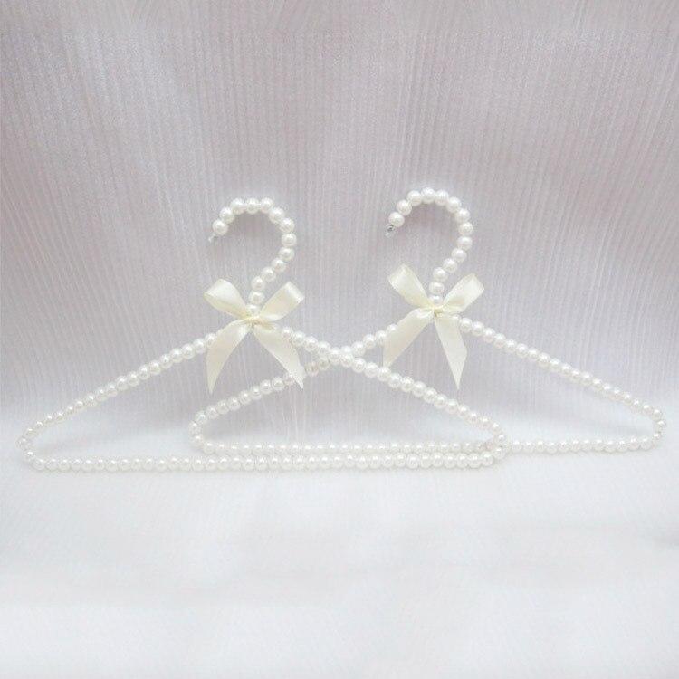 Wholesale 40cm plastic pearl hanger for dress coat pants kid s men women clothes hangers with