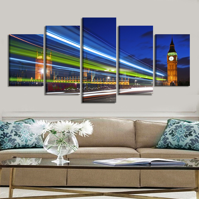 5 panels large landscape canvas painting wall art canvas prints