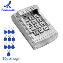 1000Users RFID Reader door lock access control standalone keypad system RFID Smart Card reader Access with 12V DC
