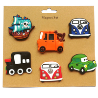 Cartoon Transport Tool Fridge Magnets 6PCS LOT Gifts Home Decorations PVC Soft Rubber Crafts Customized Logo