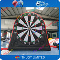 Envío libre! 4 m/13ft inflable dardos, dardos de pie inflable para la venta, fútbol inflable dardos, velcro inflable fútbol dardo