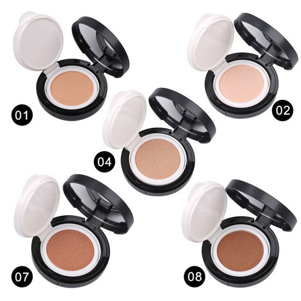 72g Air Cushion BB Cream Sunscreen Perfect Skin BB Powder Concealer Moisturizing Foundation Makeup Bare 5 Colors Optional image