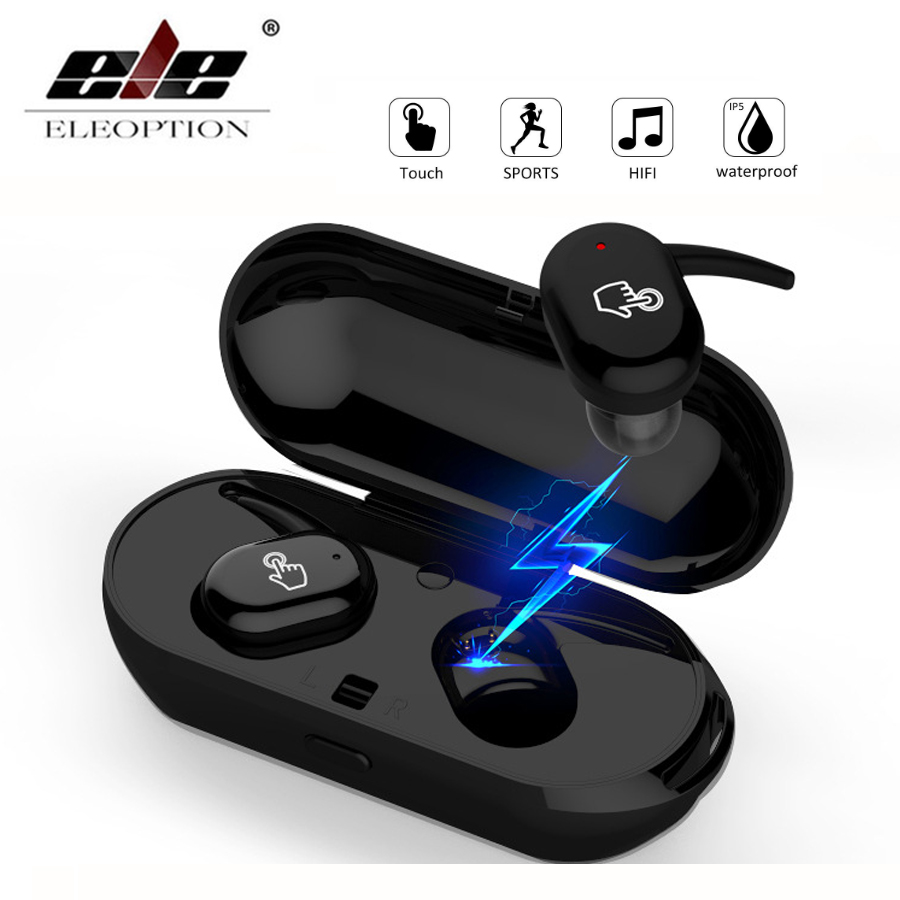 Mini TWS Twins Bluetooth Earphones Wireless Earbud Waterproof Touch Control Stereo Bluetooth Headsets with Mic and Charging Case