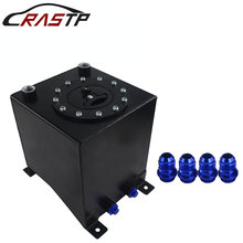 RASTP-High Quality Universal 10L Aluminum Fuel Surge Tank Mirror Polish Cell Without Sensor RS-OCC021