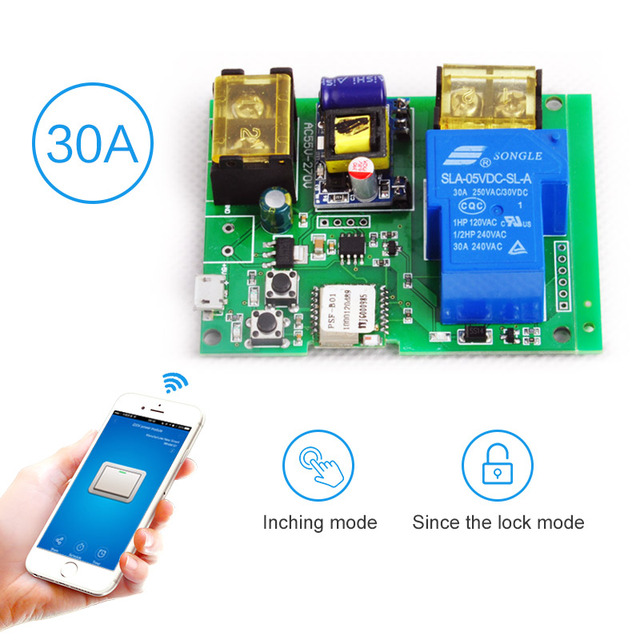 Wifi Remote Control Automation Modules Relay Module 220V 30A High Power 4000W Phone ewelink APP Remote Control Timer Switch