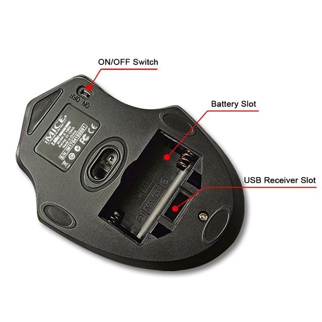 Imice 2000DPI Adjustable USB 3.0 Receiver Optical Computer Mouse 5