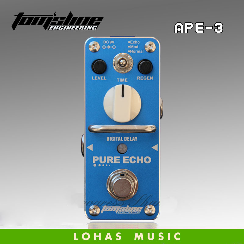 Hot sale TOM'SLINE APE-3 PURE ECHO Digital delay / Guitar effects pedal Mini Analogue Effect True Bypass new aroma atp 3 tube pusher vlave combo simulator overdrive mini analogue effect true bypass