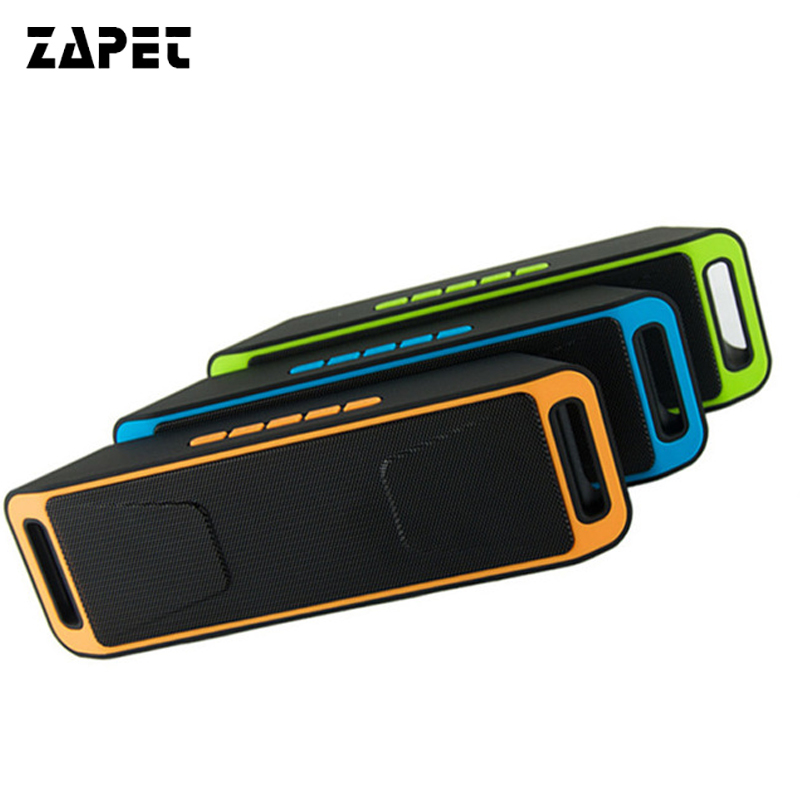 ZAPET Portable Wireless Speaker Stereo Bluetooth Receiver with Microphone HIFI Altoparlante Support FM Radio TF Card Loudspeaker
