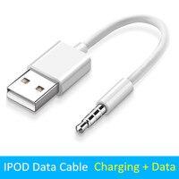 Cargador de sincronización de datos 3,5mm Jack a USB 2,0 Cable adaptador de Audio para Apple iPod Shuffle 3rd 4th 5th 6th