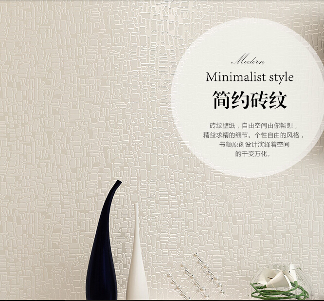 Фотография  2016 hot selling creative imitation brick grain wall paper 3D contracted contemporary non-woven wallpaper sitting room bedroom