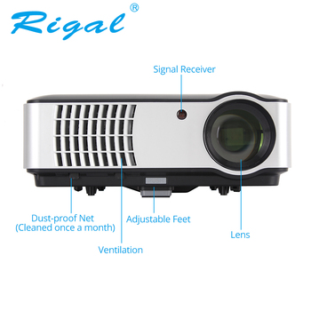 Rigal Projector RD806A LED Projector Android 6.0 WIFI 5000Lumen Beamer 3D 720P Portable Home Theatre HD Projector RD806 RD-806
