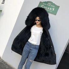 women real racoon dog fur coat