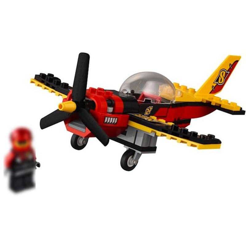 Legoing Racing sea plane 60144 94 Building Blcok set Brick compatible 10643 Toys for children Gift